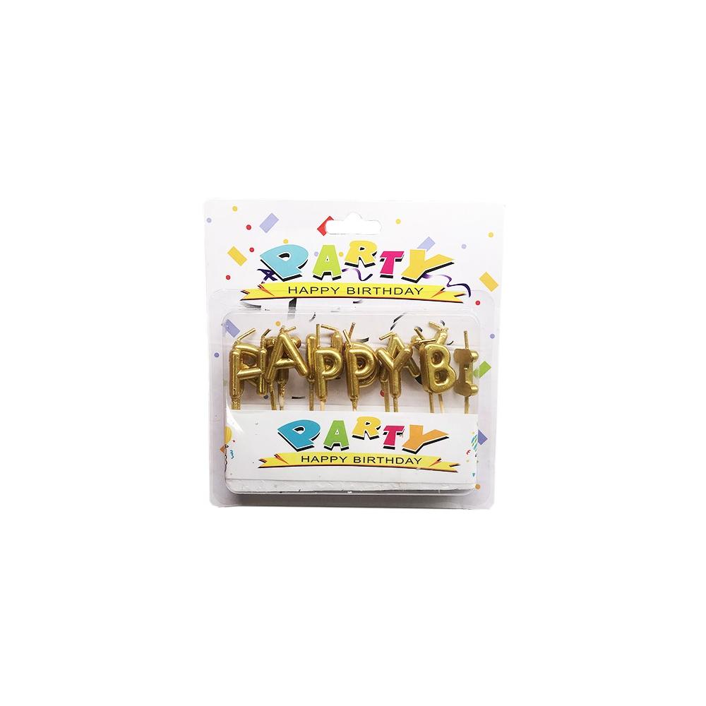 Narozeninové svíčky na dort Happy Birthday