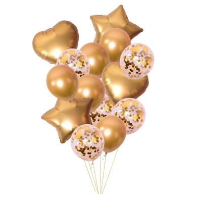 Sada nafukovacích balónků mix zlatý 14 ks