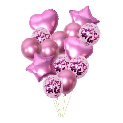 Sada nafukovacích balónků mix růžová 14 ks