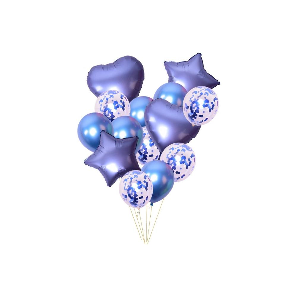 Sada nafukovacích balónků mix modrá 14 ks