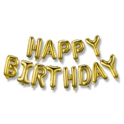 BALÓNEK fóliový Happy birthday zlatá