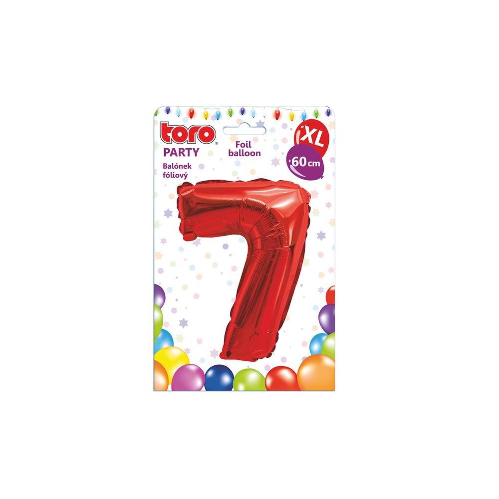 "Balónek XL, číslice ""7"", 60 cm, červený"