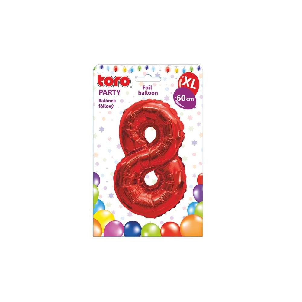 "Balónek XL, číslice ""5"", 60 cm, červený"