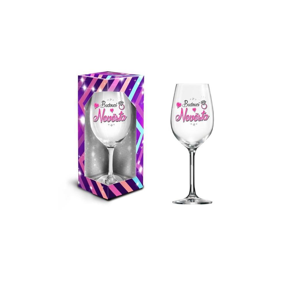 Sklenice na víno XXL - Budoucí nevěsta , 600 ml