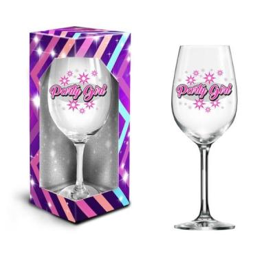 Sklenice na víno XXL - Party girl , 600 ml