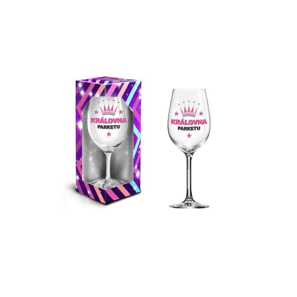 Sklenice na víno XXL - Královna parketu , 600 ml