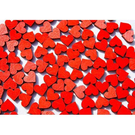 Červená srdíčka - 100 ks