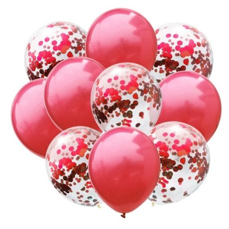 Sada nafukovacích balónků - červená 10 ks