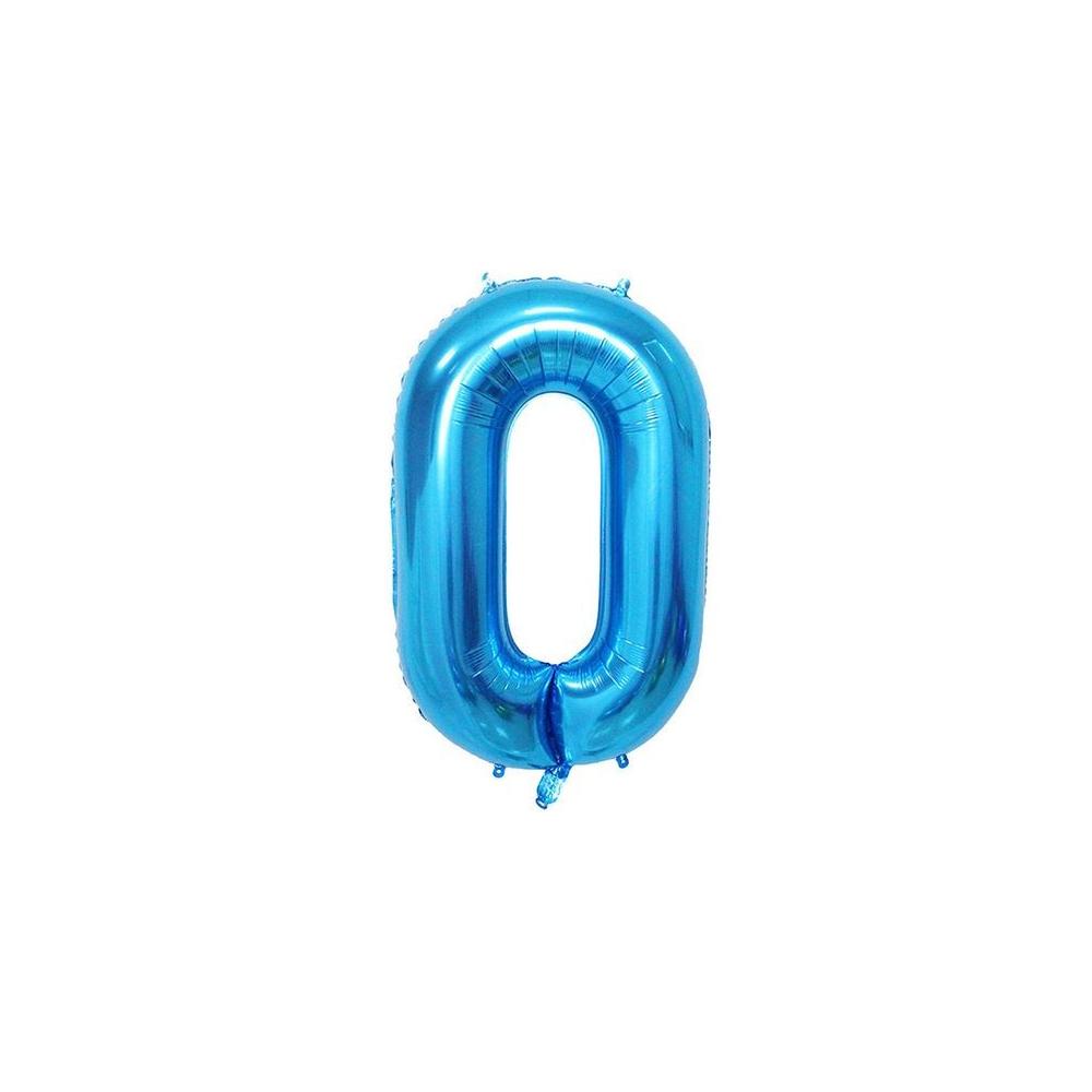 "BALÓNEK fóliový číslo 0 modrá - 102 cm 40"""