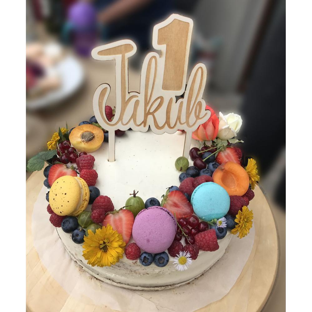 ZÁPICH do dortu k narozeninám se jménem a věkem
