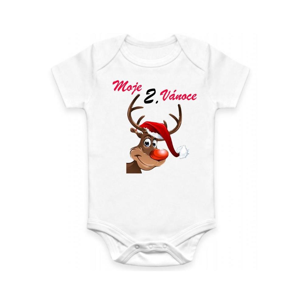 Dětské BODY Moje 2. Vánoce