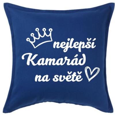 Polštář NEJLEPŠÍ KAMARÁD - modrá