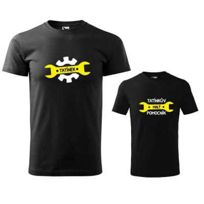 Set triček TATÍNEK + TATÍNKŮV MALÝ POMOCNÍK