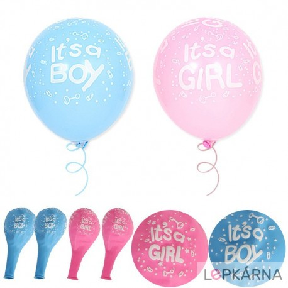 "Balónky ""girl or boy"" - ""holka nebo kluk"" 10 ks"