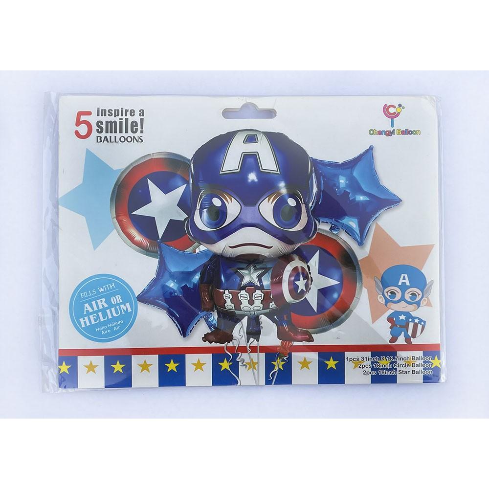 Sada balónků Superhrdina - 5 ks