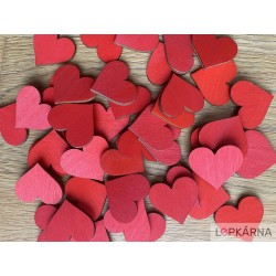 Srdce 3 mm - výřezy z dřevěné překližky / tvoření