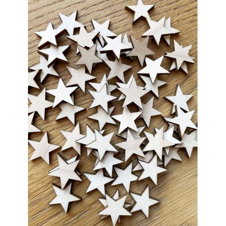 Hvězdičky - výřezy z dřevěné překližky / tvoření