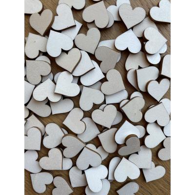 Srdíčka 2 cm na tvoření, dekorace, svatbu - různé barvy