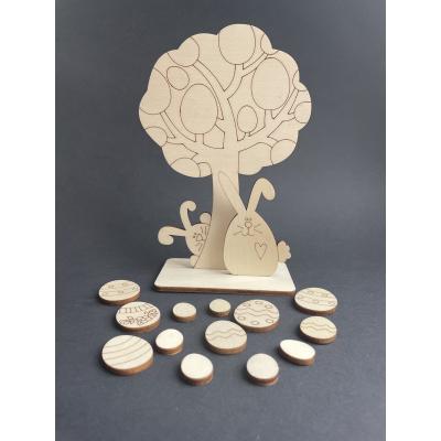 Dřevěný velikonoční stromeček