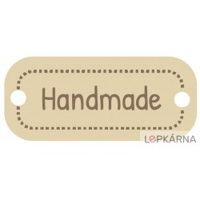 Dřevěná cedulka - Handmade - 30 ks II