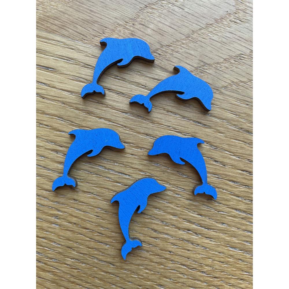 Delfín- výřezy z dřevěné překližky / tvoření