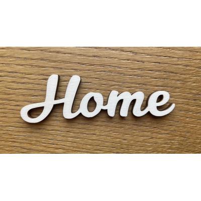 Dřevěný nápis Home