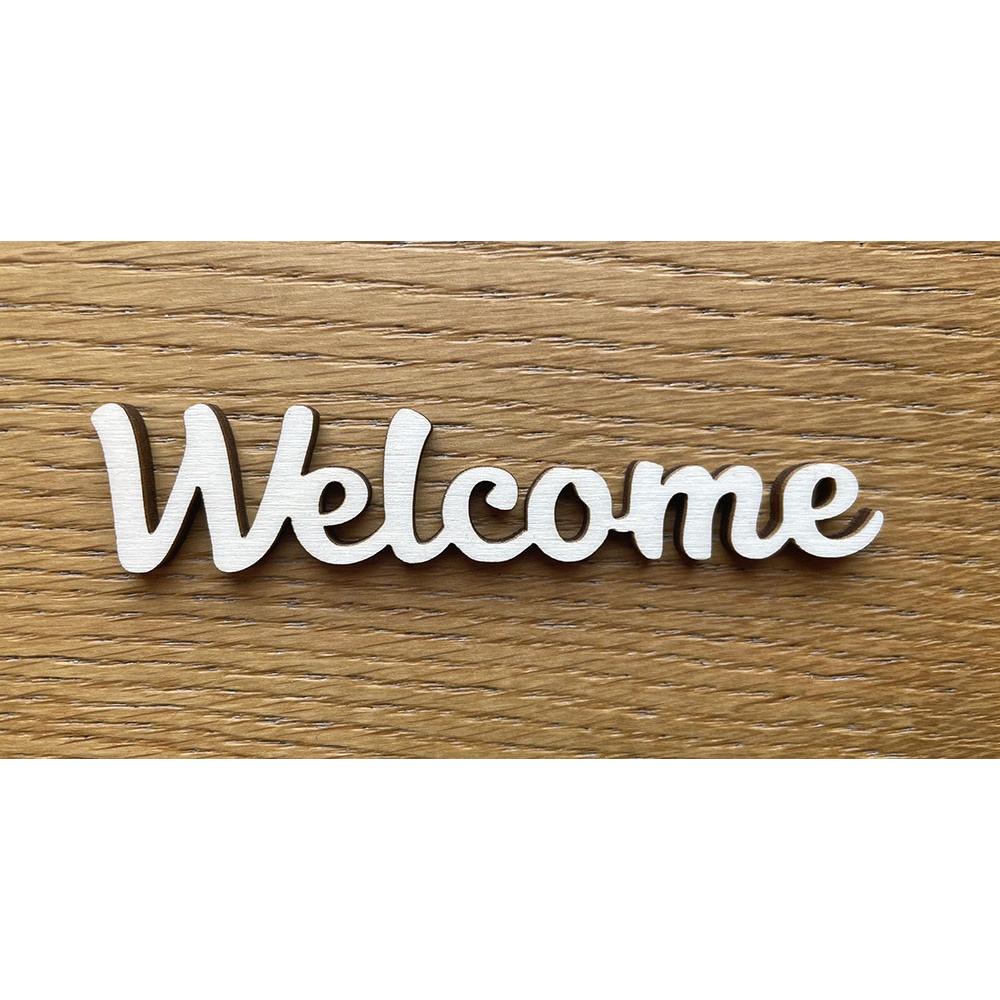 Dřevěný nápis Welcome