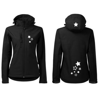 Dámská Softshellová bunda reflexní hvězdičky