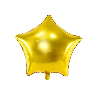 Foliový balonek hvězda zlatá 48 cm