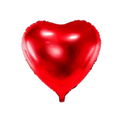 Foliový balónek srdce 45 cm červený