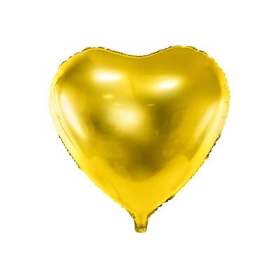 Foliový balónek srdce 45 cm zlatý