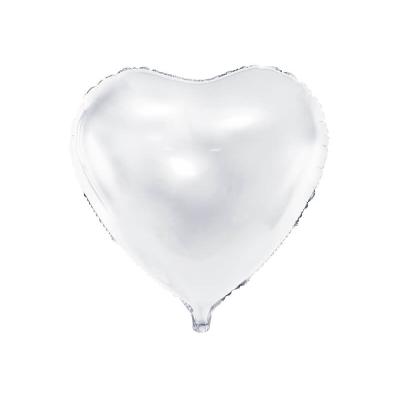 Foliový balónek srdce 45 cm bílá
