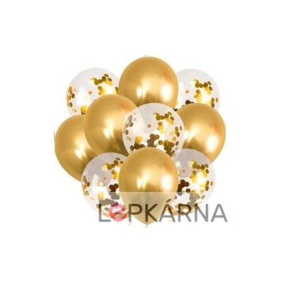 Sada nafukovacích balónků - zlatá 10 ks