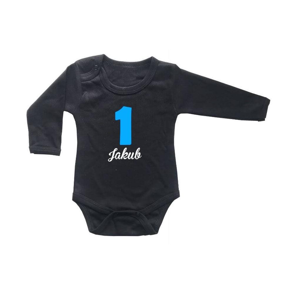 Dětské BODY černé 1 rok + jméno