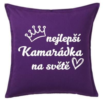 Polštář NEJLEPŠÍ KAMARÁDKA - fialová