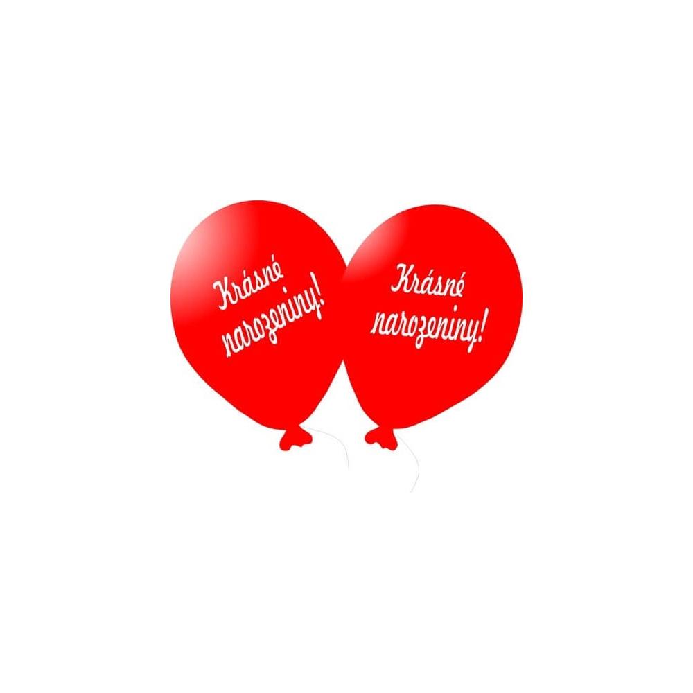 Balónek bílý Krásné narozeniny!