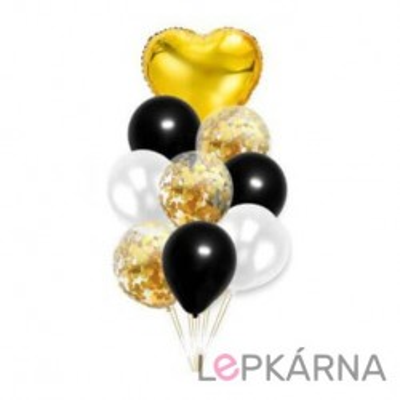 Balónkový set zlatá - černá