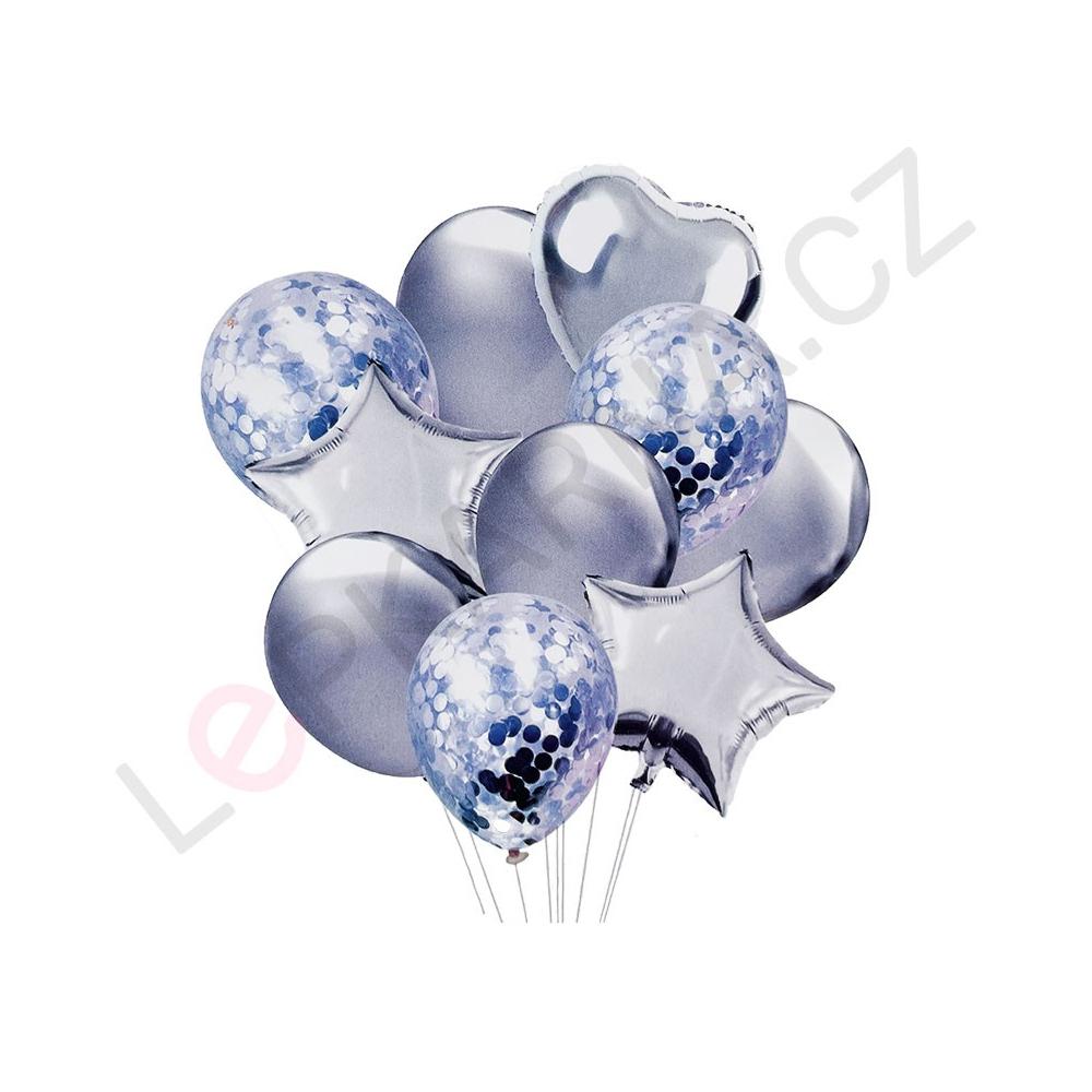 Balónkový set stříbrná 10 ks