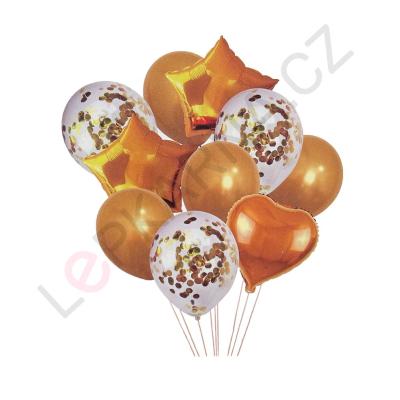 Balónkový set zlatá 10 ks