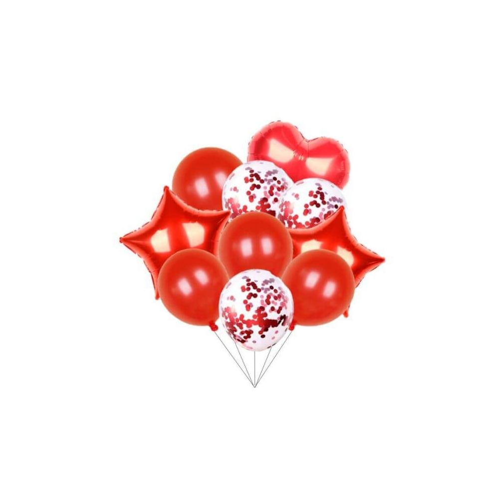 Balónkový set červená 10 ks