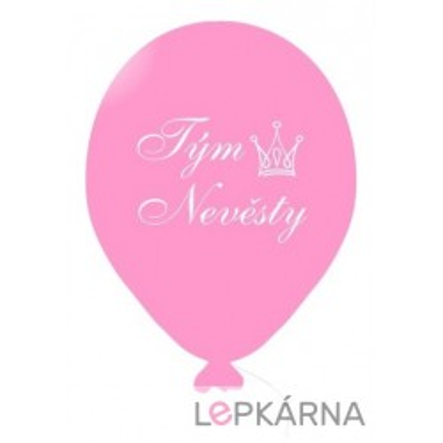 Balónek TÝM NEVĚSTY růžový