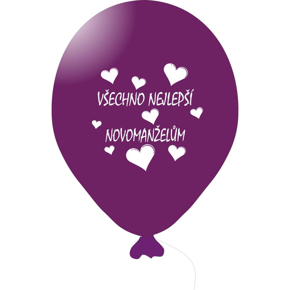 Balónek VŠECHNO NEJLEPŠÍ NOVOMANŽELŮM